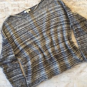 Madewell Gray and Black Sweater
